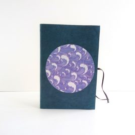 Carnet A6 bleu nuit Vague