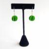 Boucles d'oreilles en papier Lamali, vert plumetis