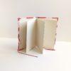 album photo accordéon, décor fraise, feuilles intérieures
