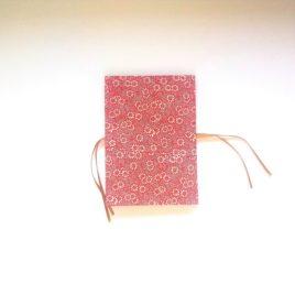 Album photo accordéon, rouge, modèle fleurs