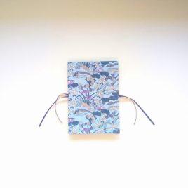 Album photo accordéon, modèle bleu et violet.