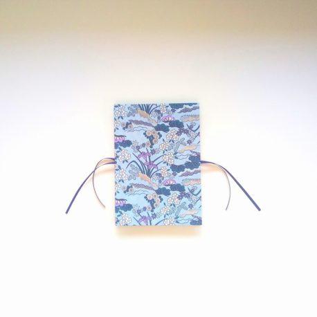 carnet accordéon, bleu et violet
